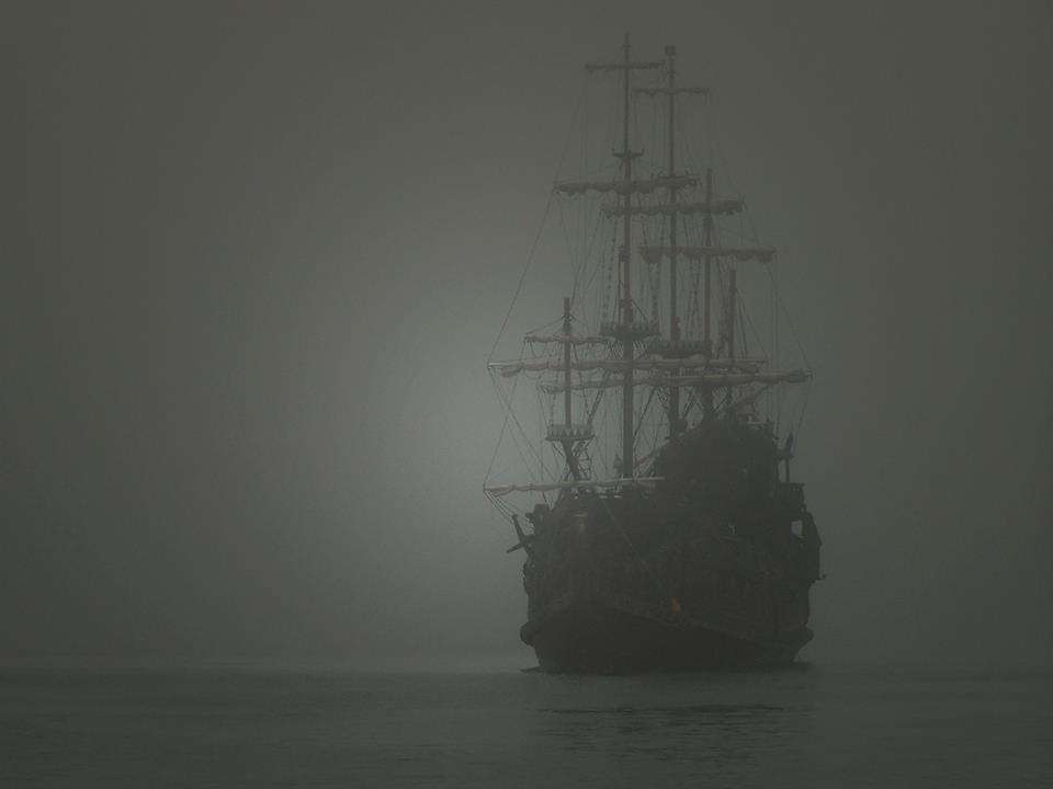 "Ghost ship – Self steering and completely intact, the Sea Bird appeared to onlookers as being guided by a 'mysterious power'. Image: <a href=""https://unmyst3.blogspot.com.au/2015/12/ellen-austin.html""> Unsolved Mysteries in the World</a>."