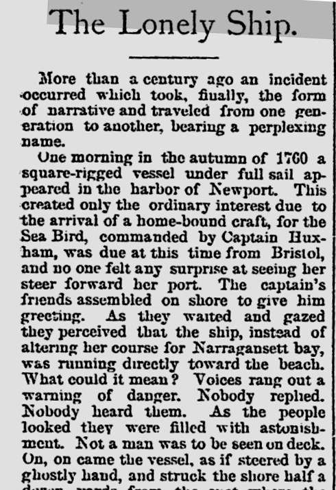 Sea Bird: A ghost ship story to shiver yer timbers - Australian National  Maritime Museum