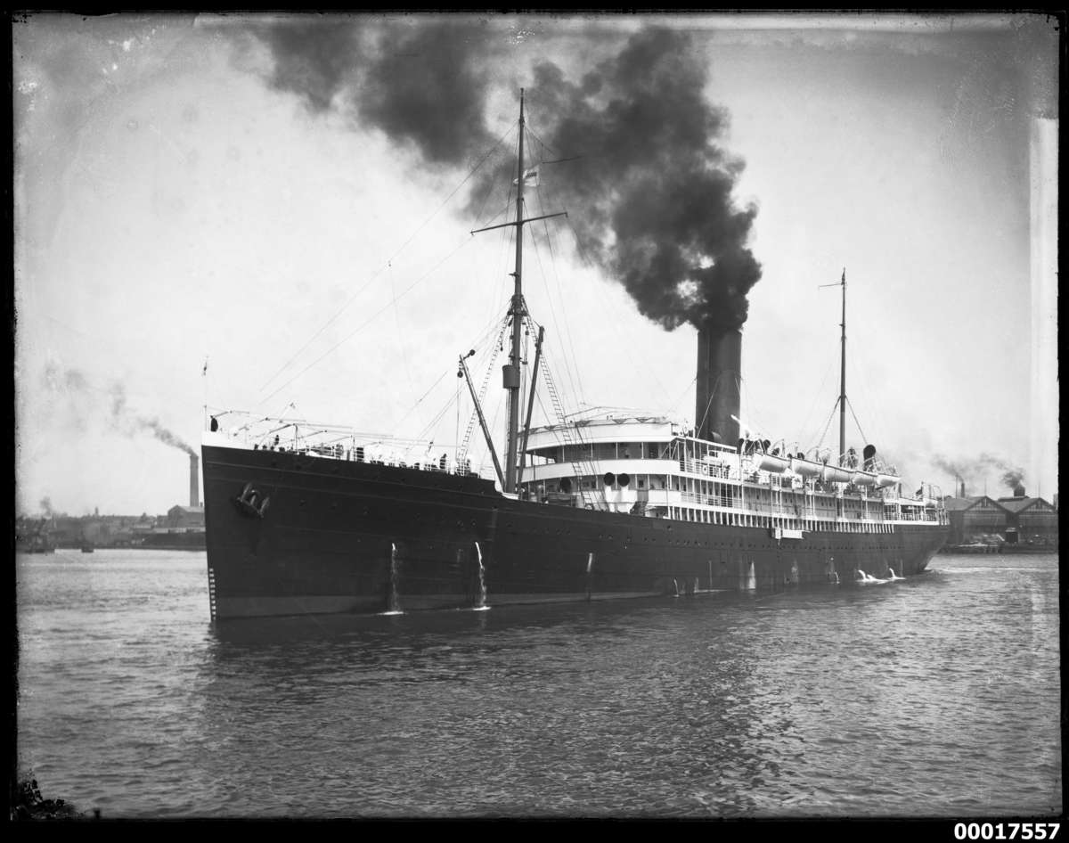 Union steamship co.'s TAHITI, c.1920. ANMM Collection 00017557, Samuel J Hood Studio.