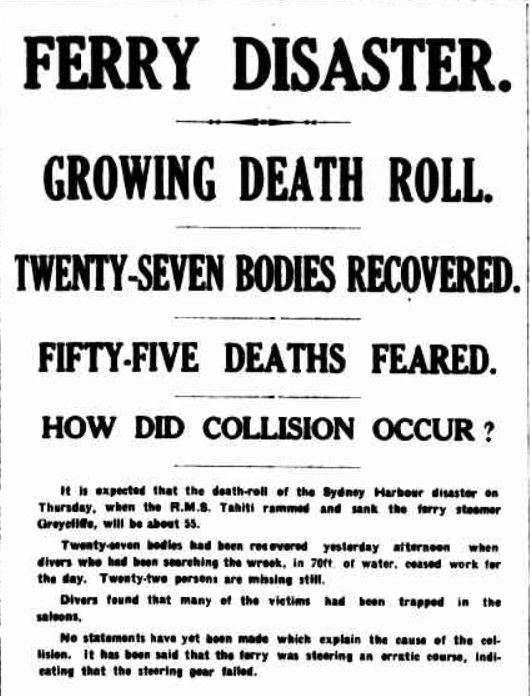 "The Argus report of the disaster, Friday 4 November 1927. So sad and shocking was the accident that it was reported in the newspaper of Melbourne. Newcastle and even Brisbane. The Argus, via <a href=""http://trove.nla.gov.au/newspaper/article/3889383"">Trove</a>."
