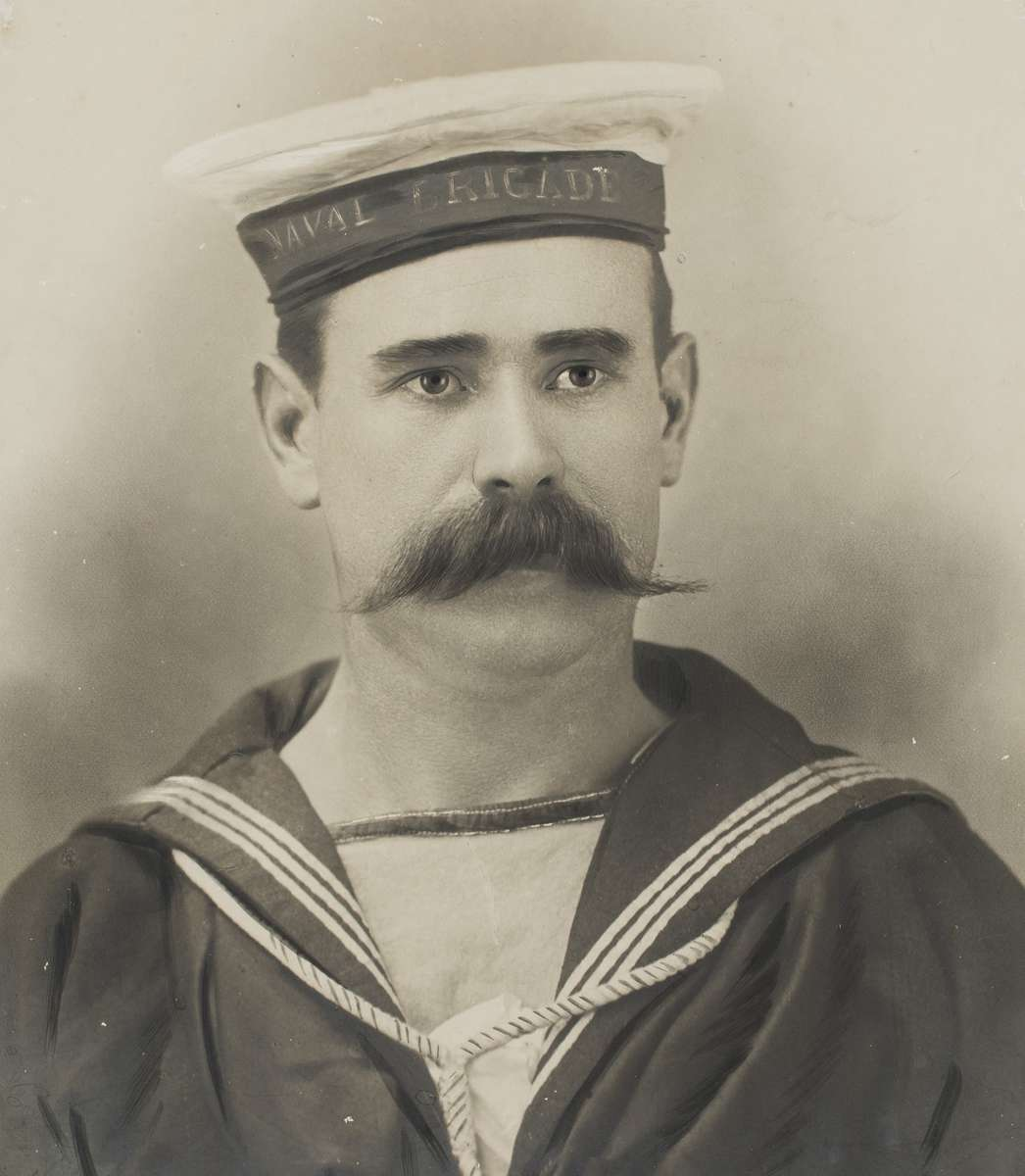 Able Seaman Thomas Fleming Walker in the uniform of the New South Wales Naval Brigade circa 1900. ANMM Collection 00054875. Gift from John Walker.