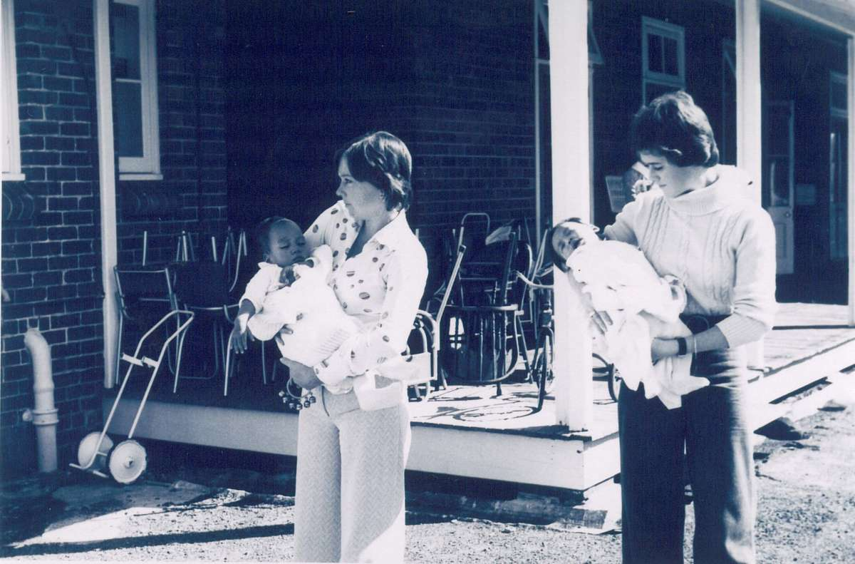 Vietnamese infants being cared for at North Head Quarantine Station in April 1975, following their evacuation from Saigon during Operation Babylift. Image: National Parks and Wildlife Service NSW, QS2008.7.