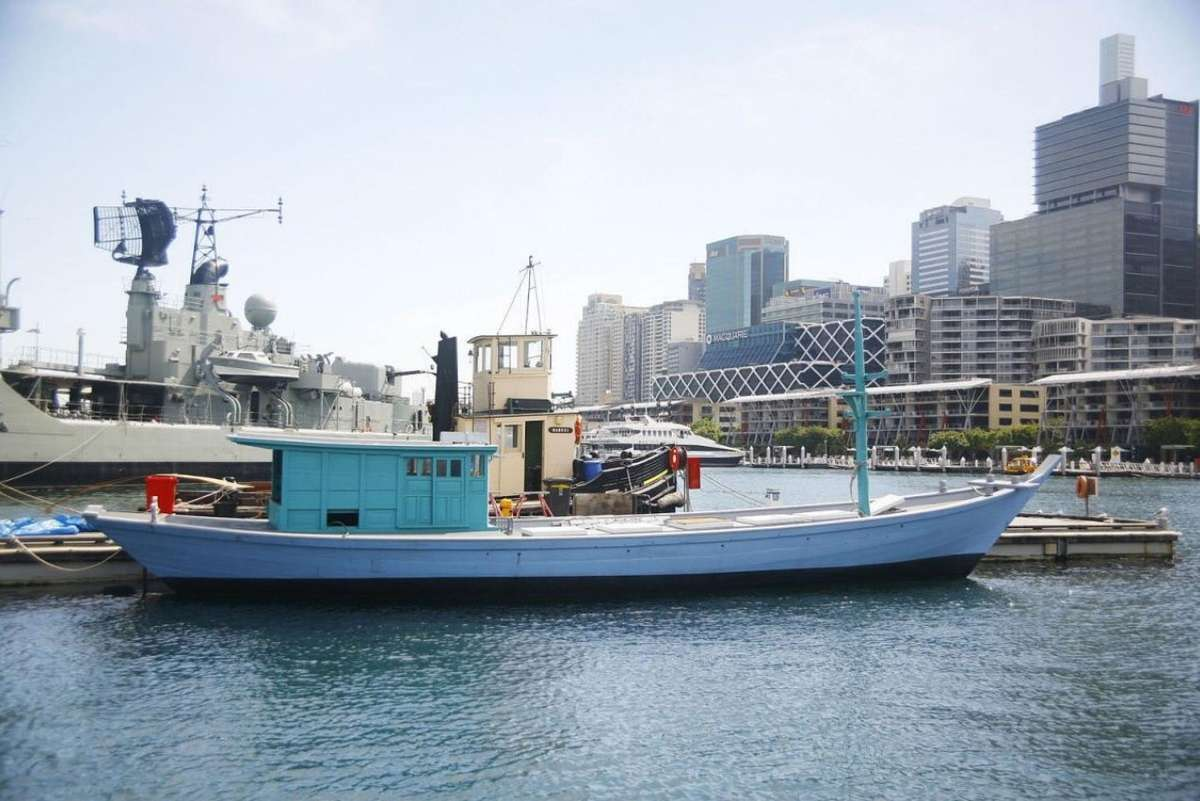 The Vietnamese refugee boat Tu Do, built in 1975, is now part of the Australian National Maritime Museum's permanent collection. Image: Australian National Maritime Museum, ANMM Collection 00009427.