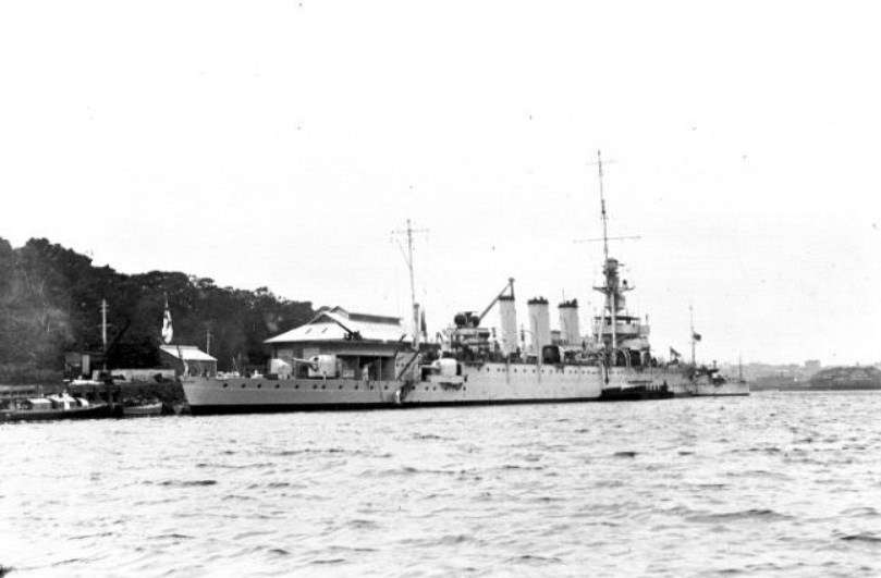 HMAS Adelaide escorted the new Free French governor, Henri Sautot, to New Caledonia in September 1940. Image: Australian National Maritime Museum, 00021114.
