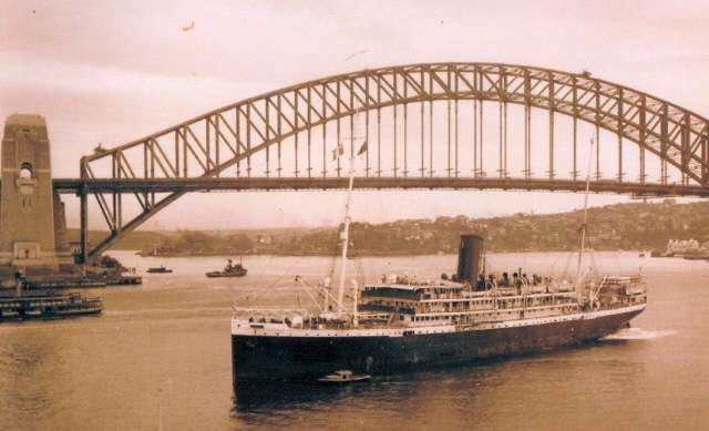 A regular visitor from New Caledonia, Pierre Loti voyaged to Sydney from 1937 until its seizure in 1940. Image: Jean-Paul Fontanon.