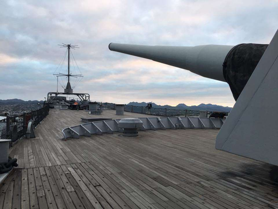 Facing towards the Bow of the Battleship Missouri Memorial. Image: Anne Doran / ANMM.