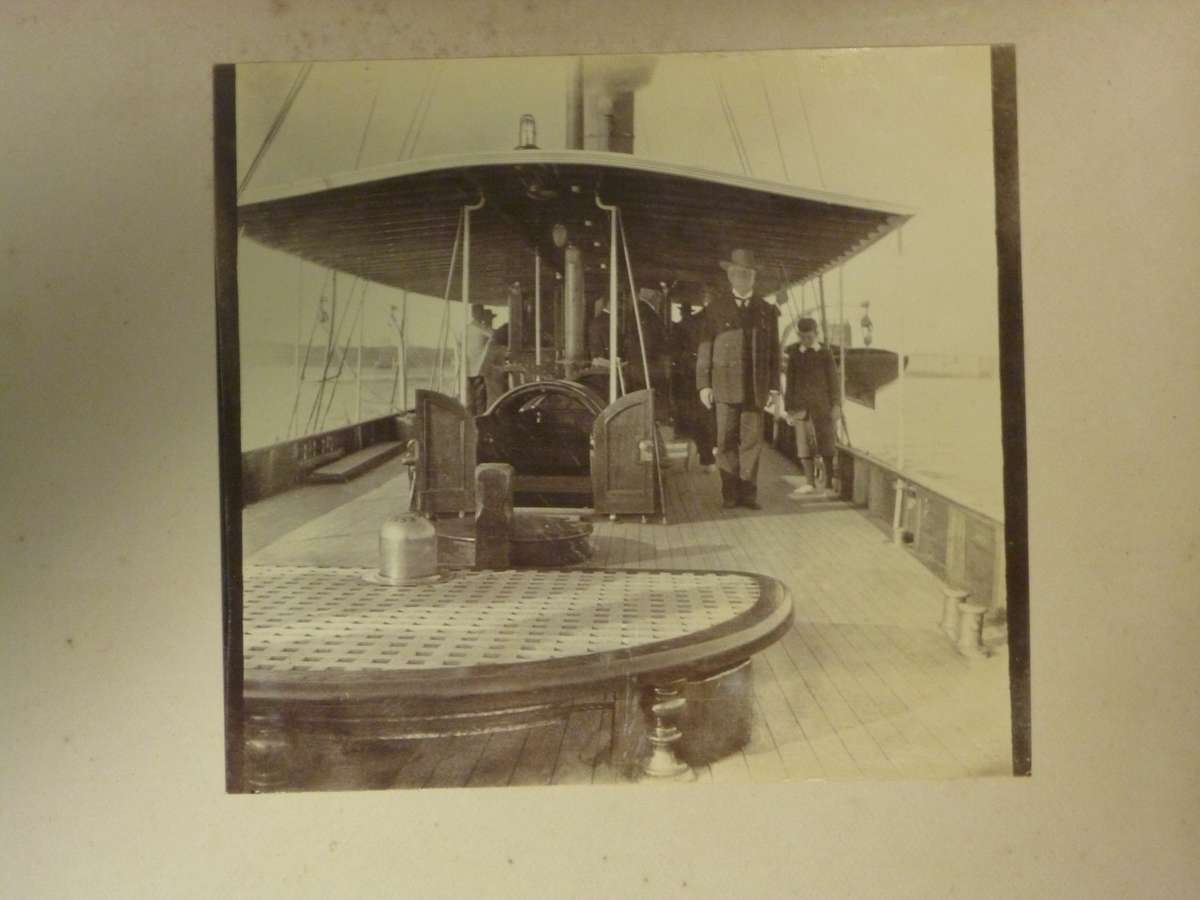 On board SY Ena in the early 1910s. Image: Dibbs