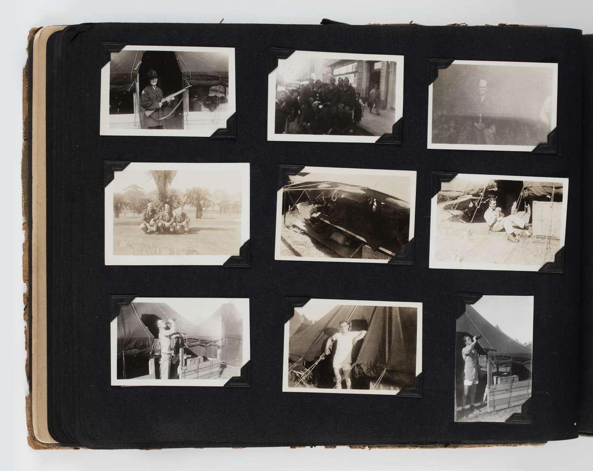 Photographs of the USA Marine camp at the MCG, aka Tent City, during Christmas 1942. ANMM Collection 00055126, gift from John Berry.