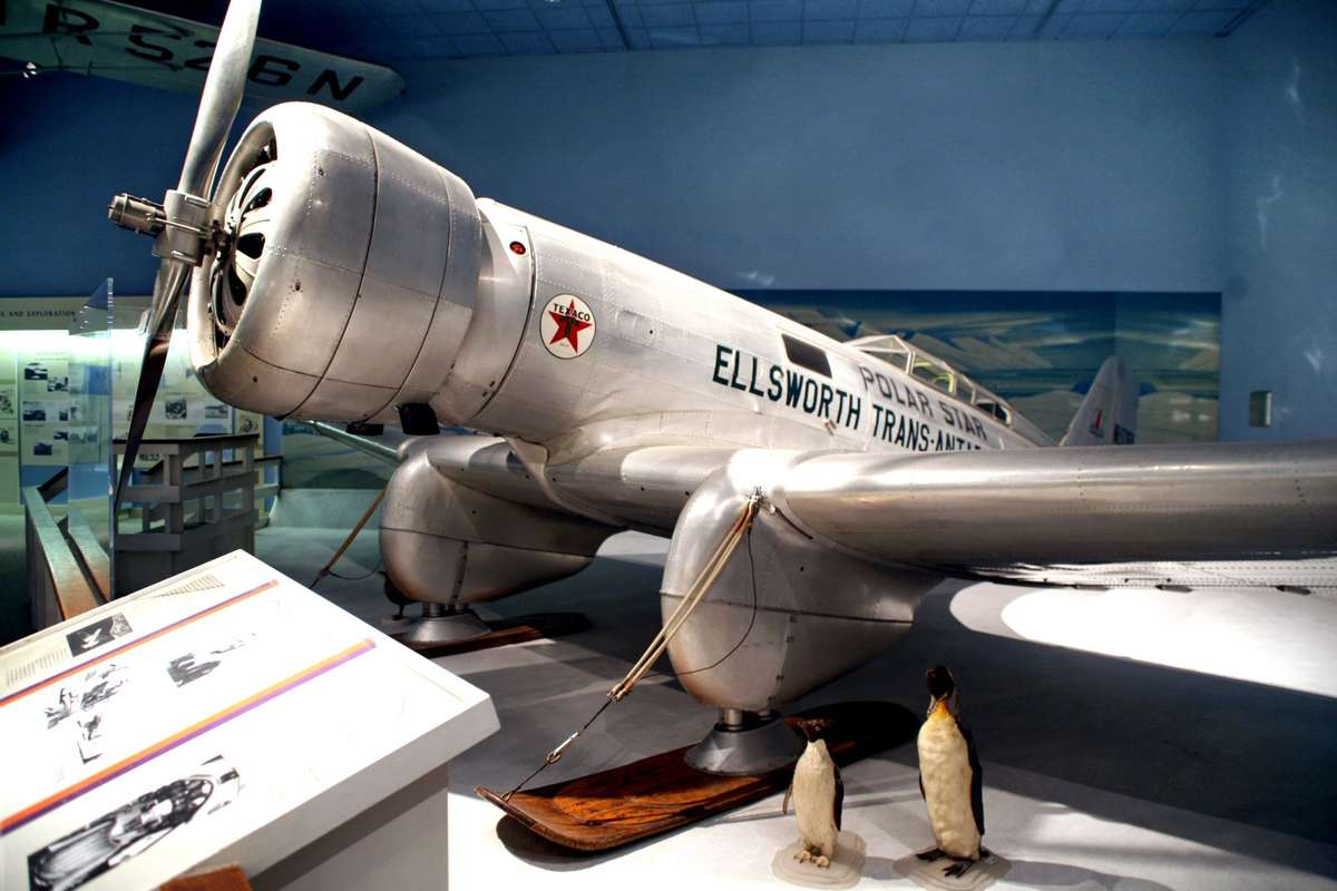 Polar Star is now part of the <a href='https://www.airspacemag.com/history-of-flight/lincoln-polar-star-180960968/'>Smithsonian National Air and Space Museum</a>. Image via <a href='https://en.wikipedia.org/wiki/Northrop_Gamma#/media/File:Northrop_2B_Gamma_Polar_Star.jpg'>Wikimedia Commons<a/>.