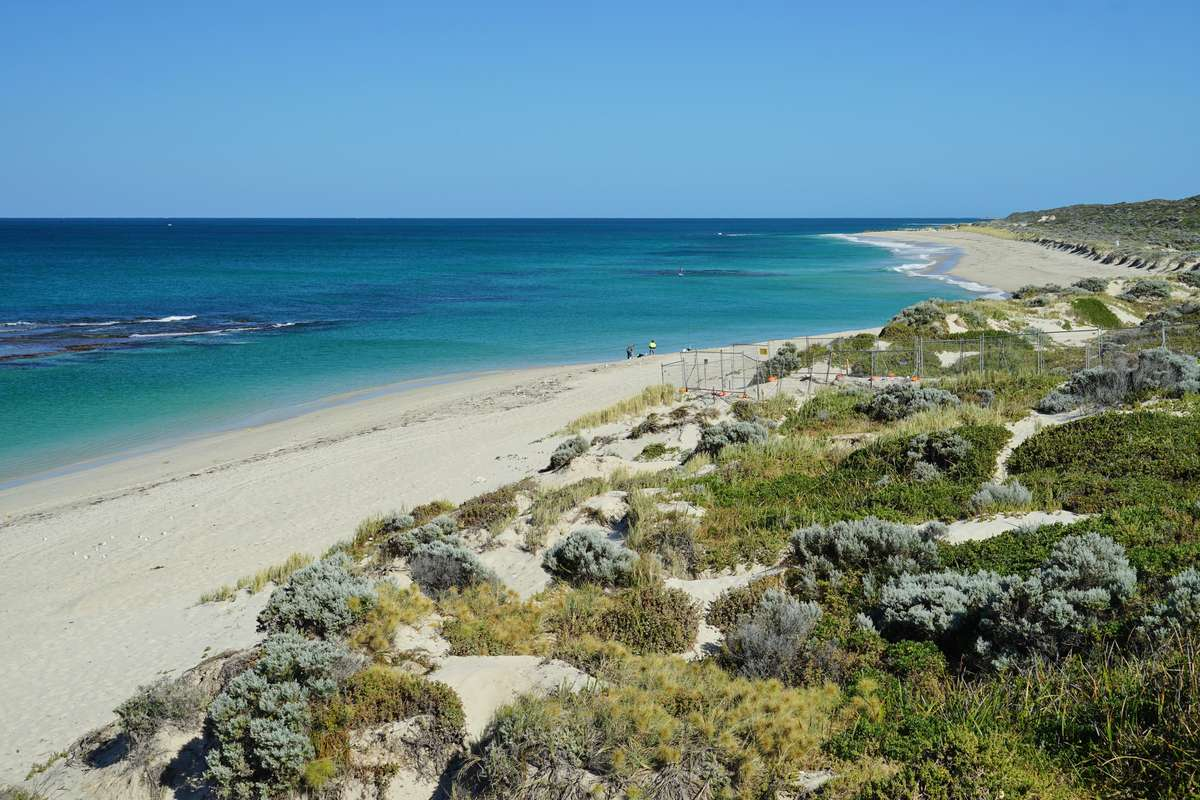 The vast stretch of coastline near Wanneroo, Western Australia. Image: <a href='https://www.shutterstock.com/g/eqroy'>EQRoy via Shutterstock</a>.