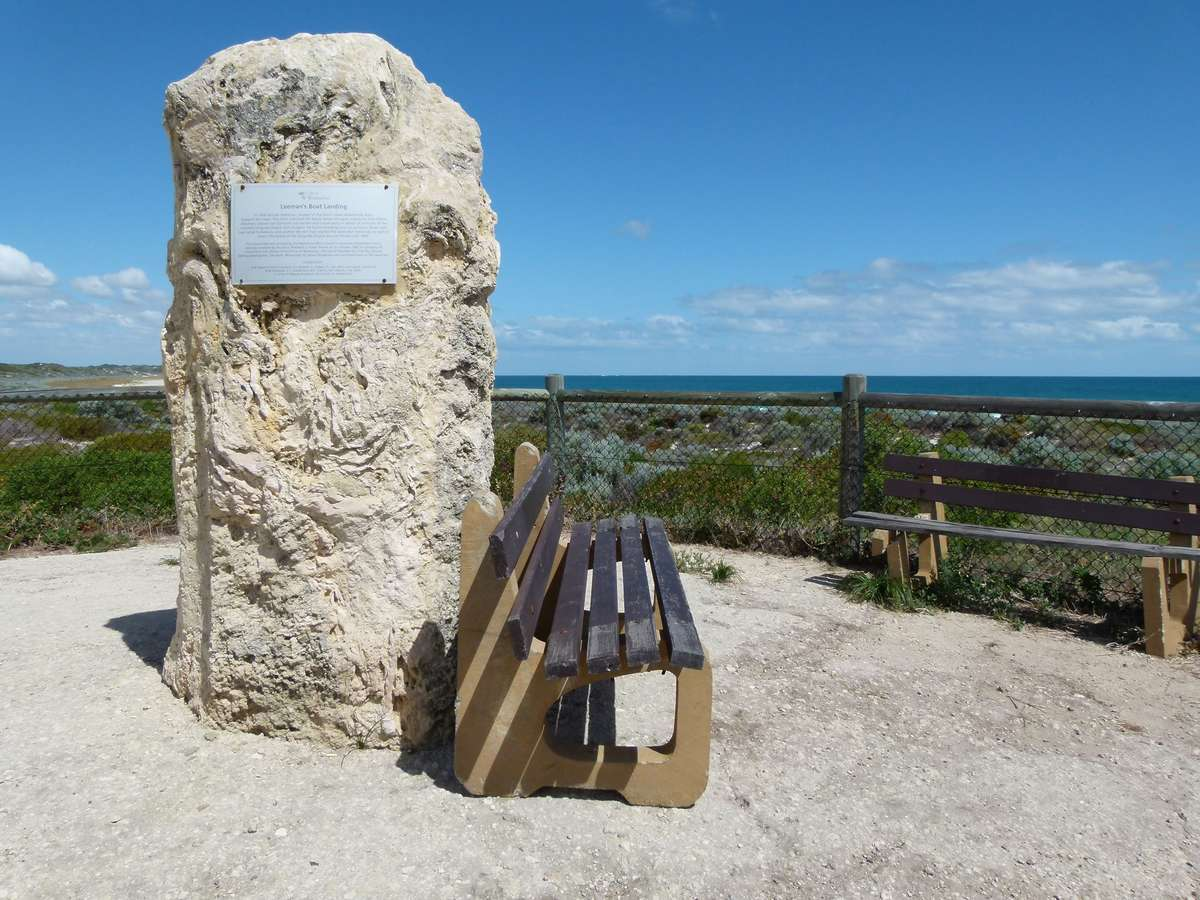 The Leeman monument, near Rottnest.