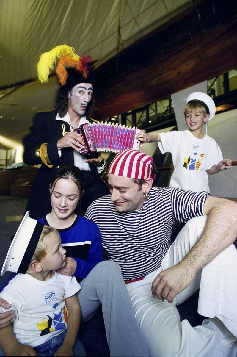 Sailors and swashbucklers, kids on deck promotional images, 1998. Image: ANMM.