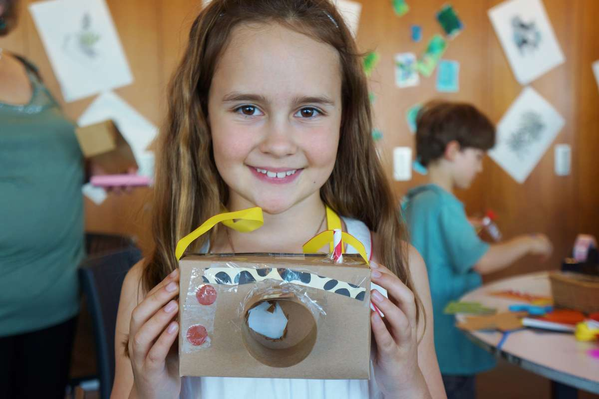 Creative cardboard cameras in Kids on Deck, 2017. Image: ANMM.