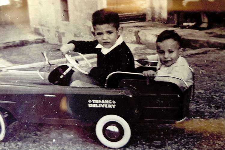 Brothers Joseph (left) and Mario (right) in Malta, early 1950s. Reproduced courtesy Joseph Cutajar.