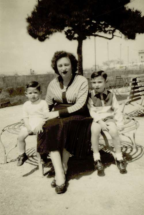 Catherine Cutajar with her sons Mario (left) and Joseph (right) in Centennial Park, Sydney, 1958. Reproduced courtesy Joseph Cutajar.