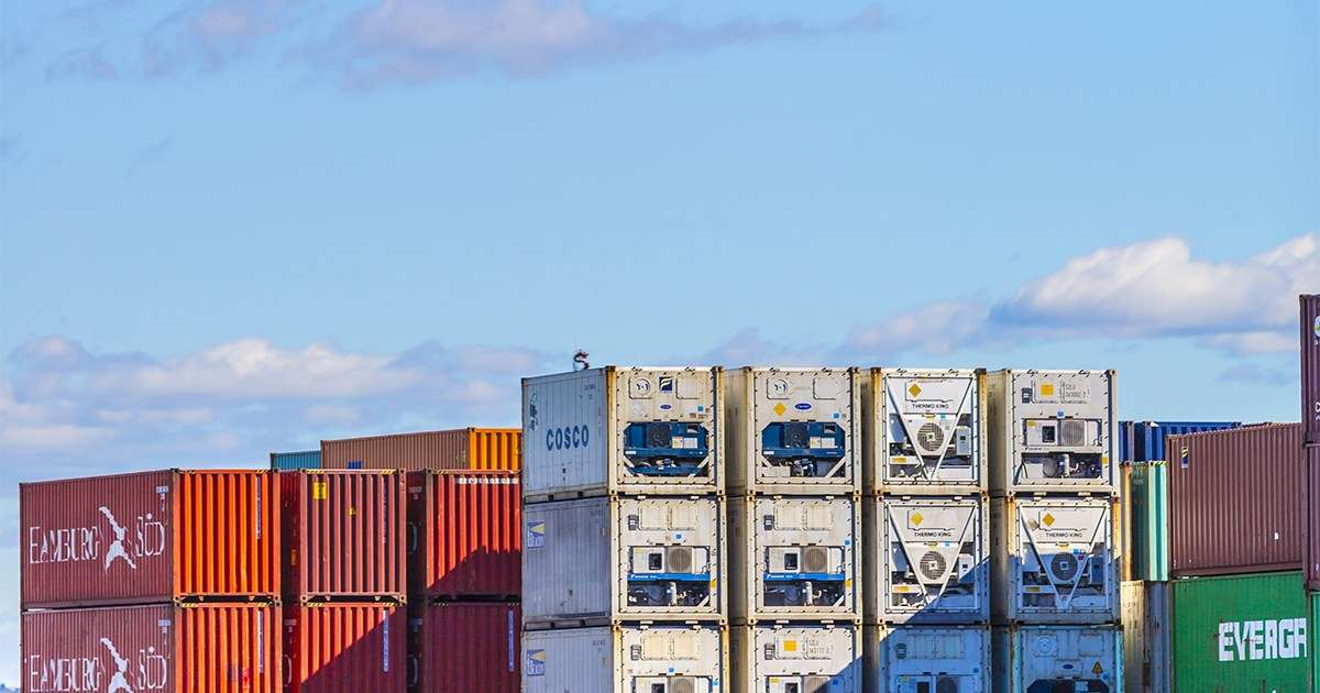The global standardisation is the reason why the humble shipping container has done so much to stimulate international trade. Image: DP World, Port Botany. Photo by Sarah Keayes/The Photo Pitch.