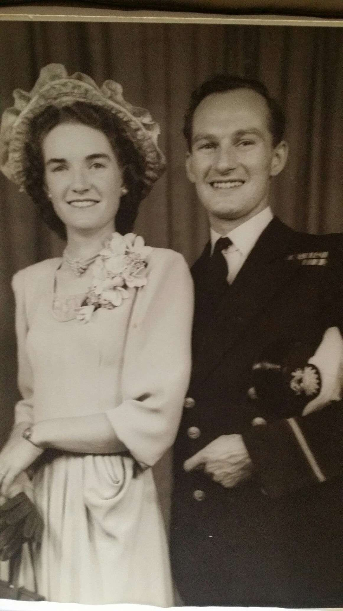 Betty and Duncan Connell on their wedding day. Image supplied by Ian Connell.