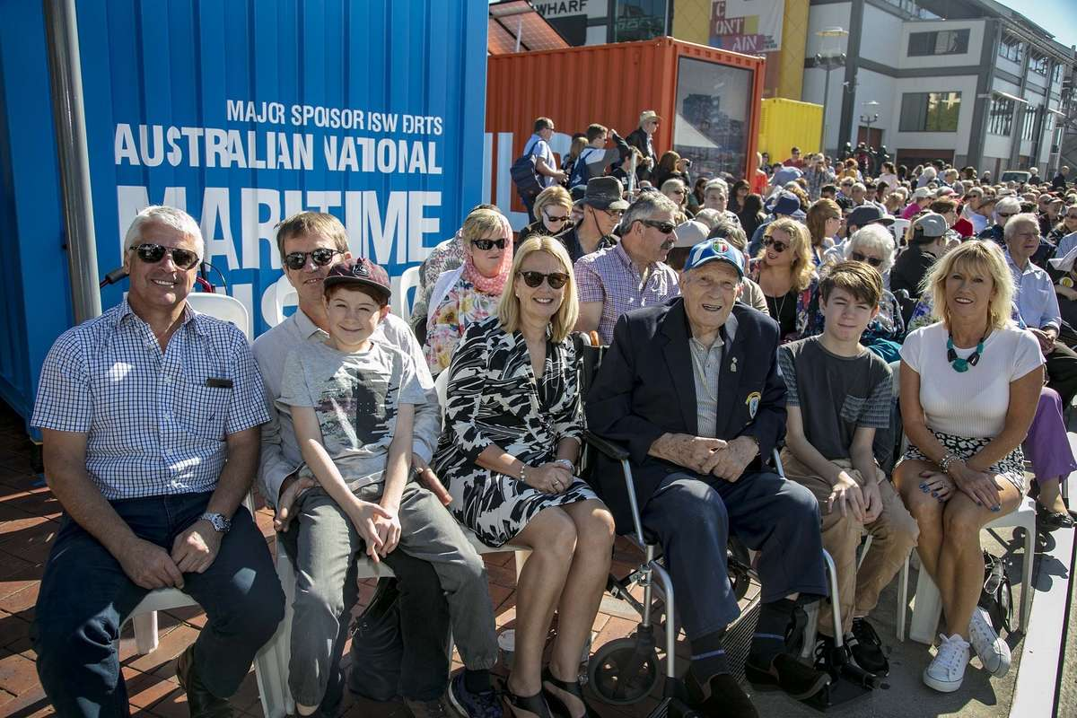 Facchini family at the Welcome Wall ceremony. Image: Andrew Frolows/ANMM.