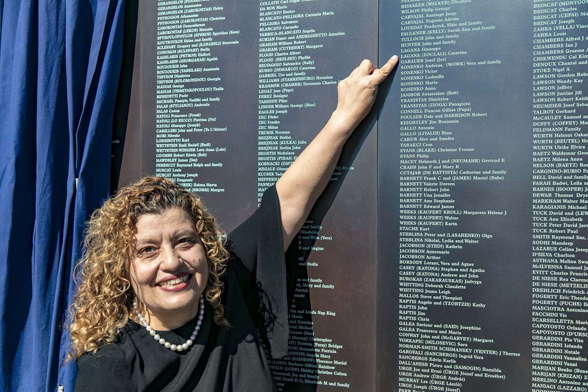 Mary Lagana, daughter of Giuseppe and Caterina from Calabria, Italy also shared her family's story of her parents' post-war migration to Australia. Image: Andrew Frolows/ANMM.