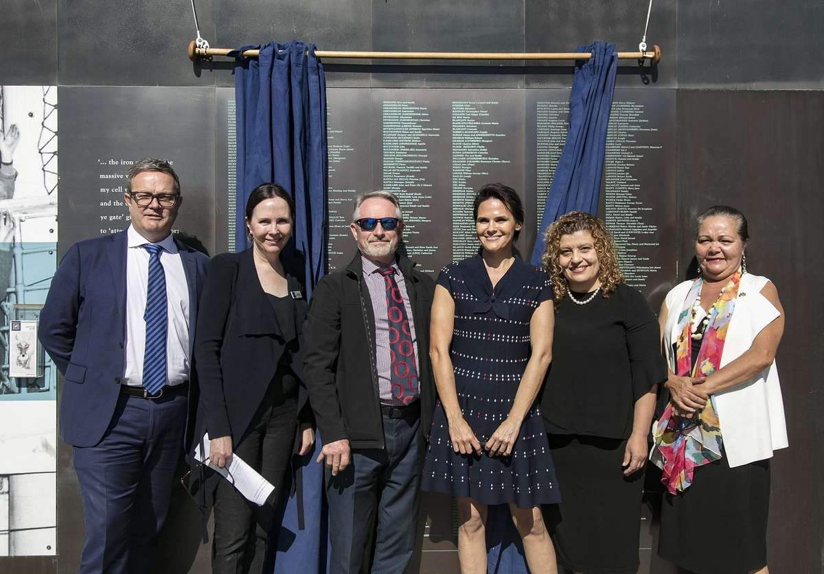 From left to right: Ken Shipp, Director of Sport at SBS; Tanya Bush, Deputy Director of the Australian National Maritime Museum; Ian Connell; Tania Murray; Mary Lagana; Donna Ingram, Indigenous Cultural Representative. Image: Andrew Frolows/ANMM.