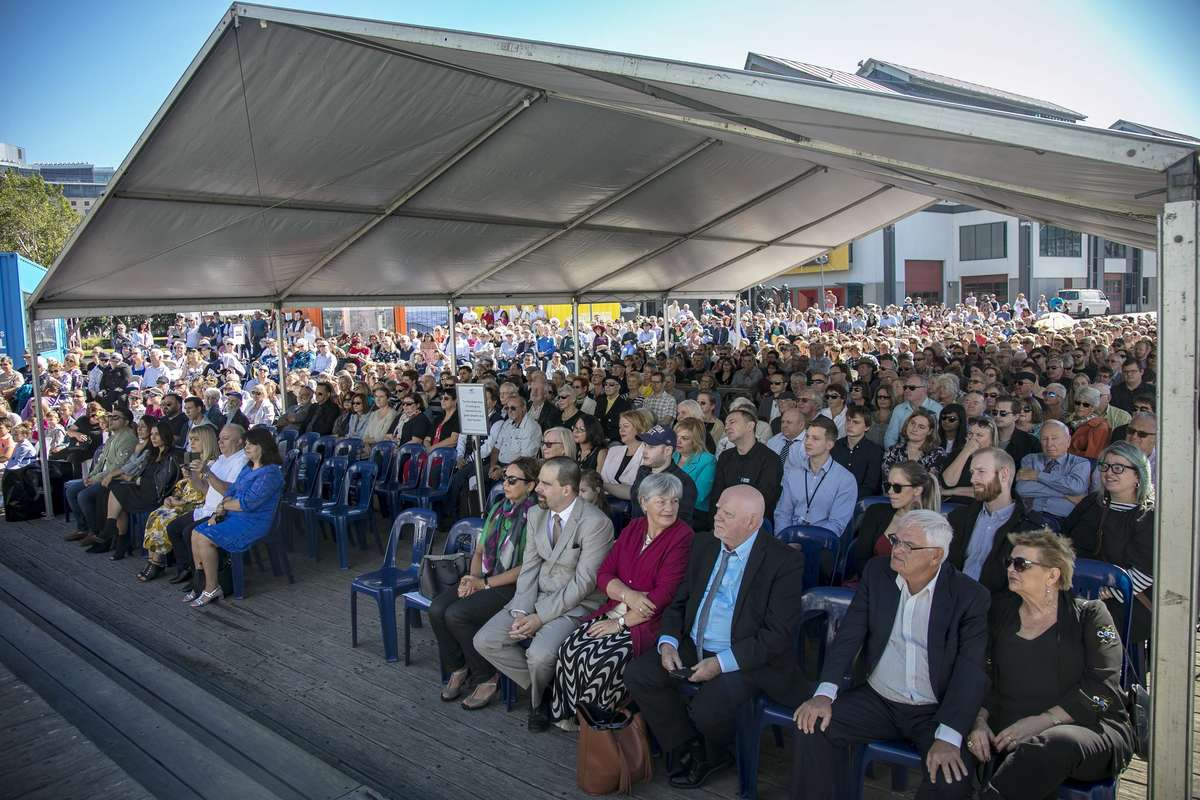 It was one of our largest unveiling ceremonies, with over 1000 people in attendance. Image: Andrew Frolows/ANMM.