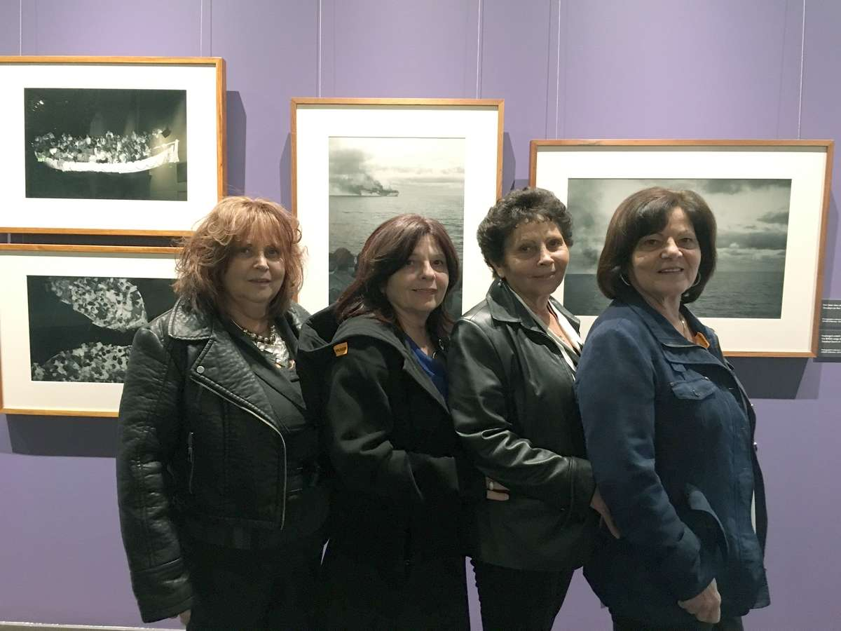 The Camenzuli sisters at the museum, (from left) Lina, Lucy, Joyce and Mary, 2018. Photograph Kim Tao/ANMM.