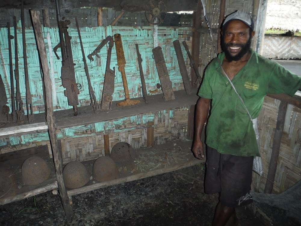 At the Kokoda Track Museum. Image courtesy Andrew Connelly.