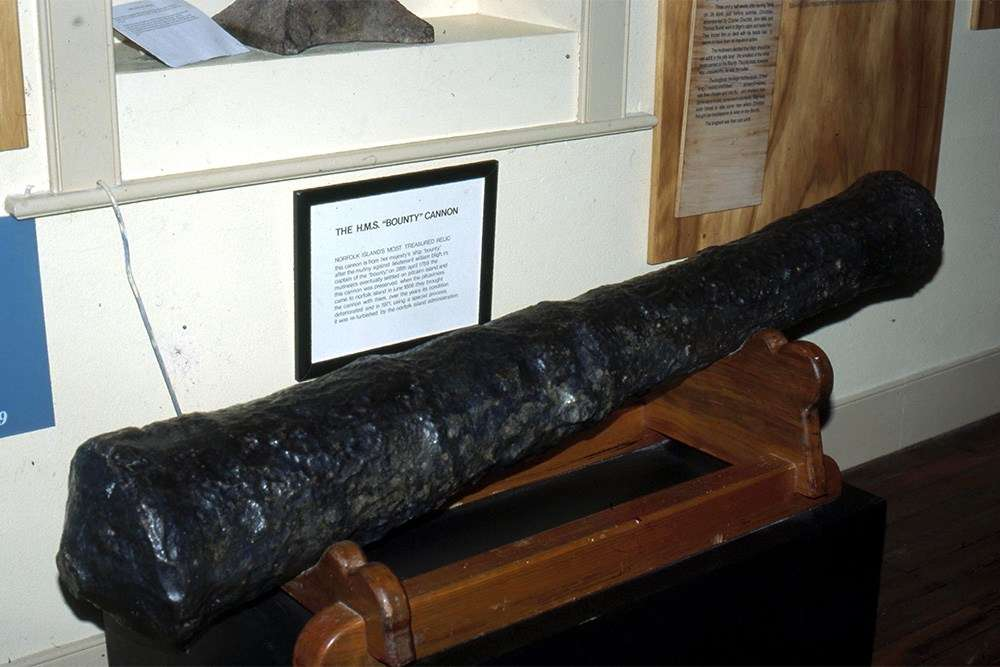 Bounty cannon at Norfolk Island Museum. Image: Nigel Erskine.