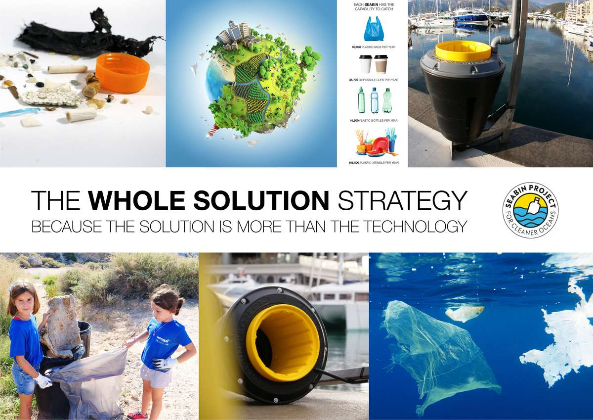 As proponents of a 'whole solution strategy', the Seabin Project engages with schools and communities to discuss how limiting our purchase and use of plastics reduces our plastic footprint and diminishes overall ocean waste. Image: Seabin Project.