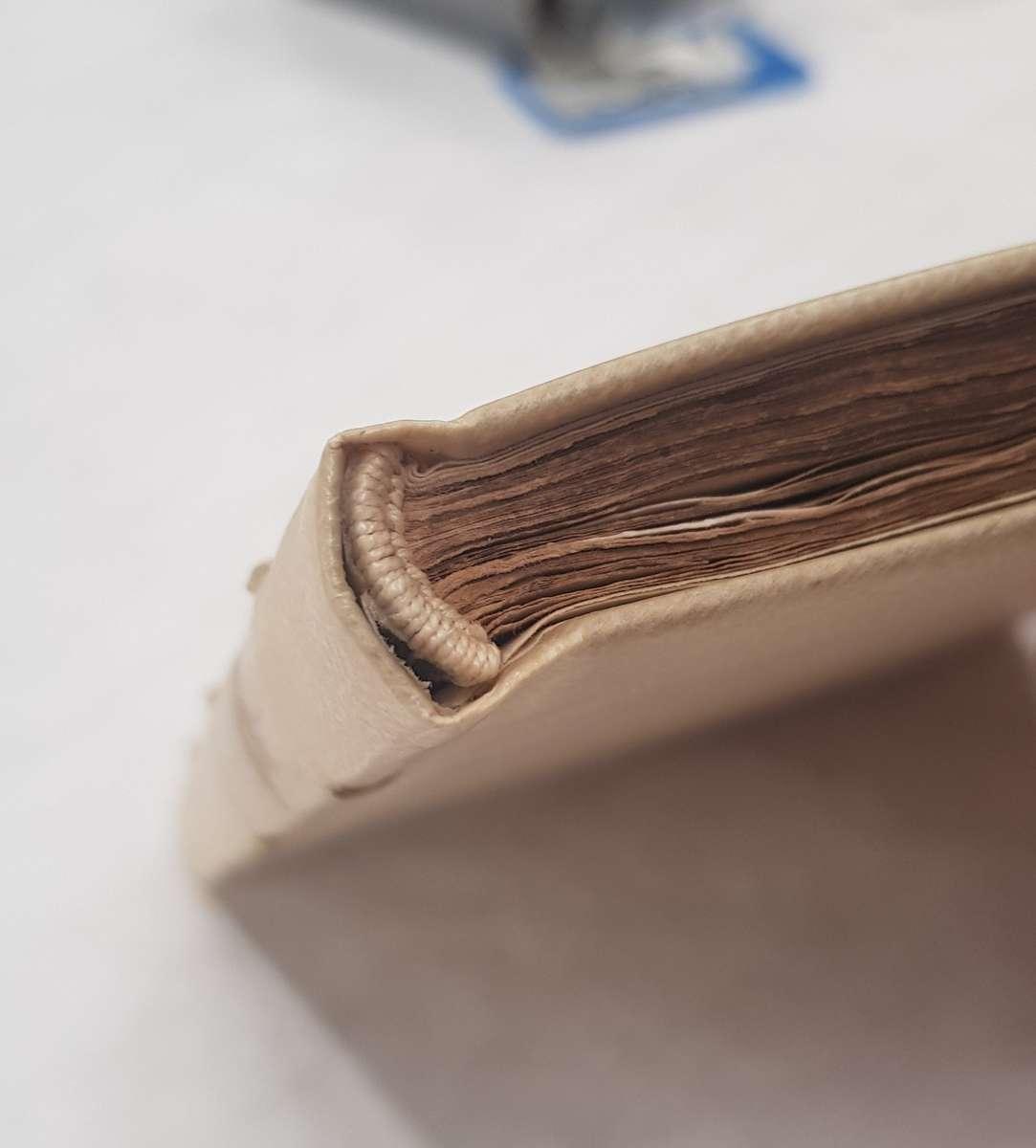 Hand sewn endband. ANMM Collection 00006056.
