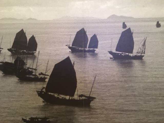 A section from a panorama of Hong Kong, circa 1940. Courtesy of the Hong Kong Maritime Museum.