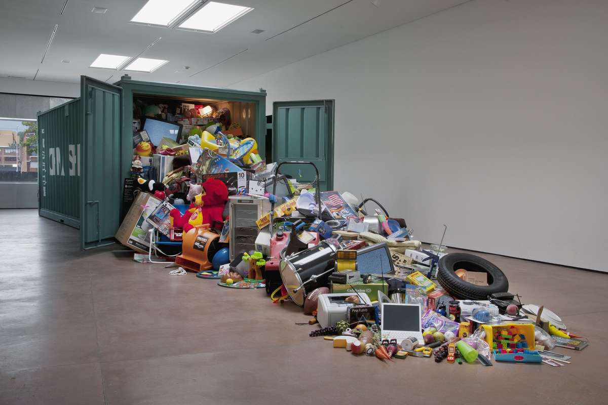 New Cornucopia asks 'Do we really need all this stuff?' Grad Arts, Kansas City, artist John Salvest, photo EG Schempf, 2011. Reproduced courtesy John Salvest.