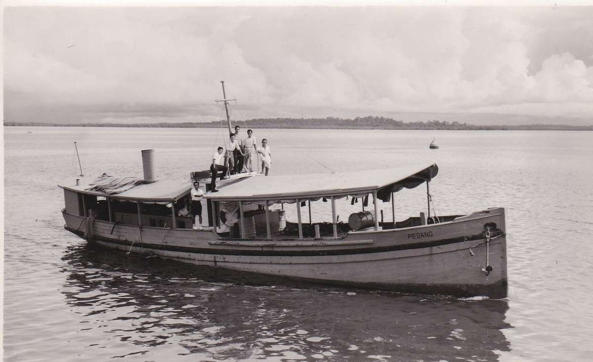"<em>Krait</em>, then known as <em>Pedang</em> in Sandakan Harbour, 1954. ANMM Collection <a href=""http://collections.anmm.gov.au/objects/201572/photograph-of-ml-pedang?ctx=7f733415-7705-4aa9-ad8e-ef7b7fcd61b4&idx=30"">00055181</a>."