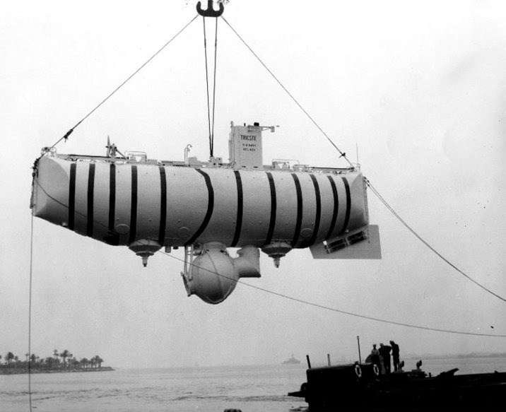 The Trieste was acquired by the US Navy for Project Nekton. Image: Courtesy Don Walsh.