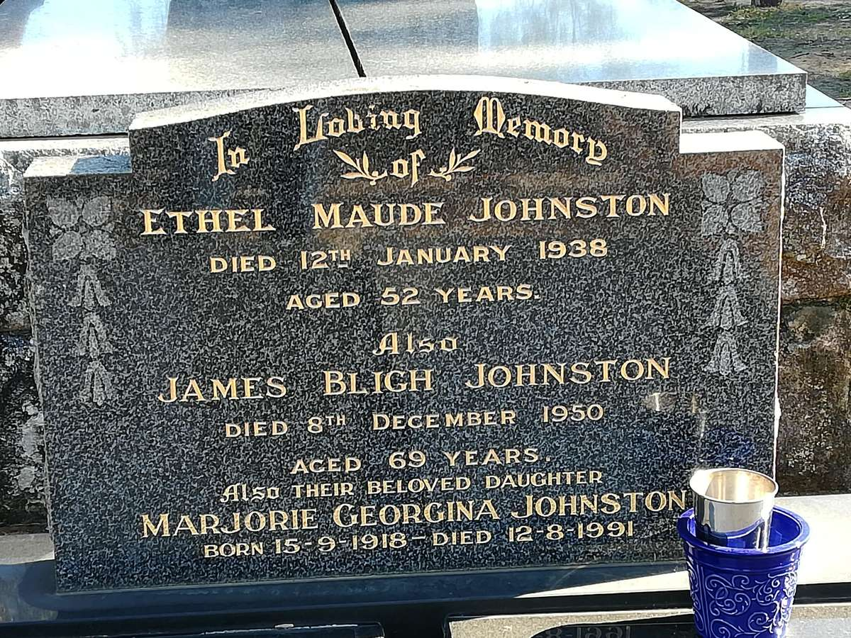 Another headstone at Ebenezer church on the Hawkesbury River with a Bligh middle name. Image: Dr Nigel Erskine/ANMM.