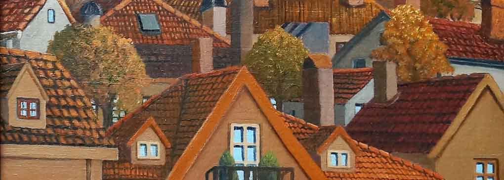 Autumn Among the Rooftops