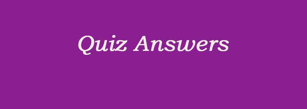 Answers to the Brueghel Quiz