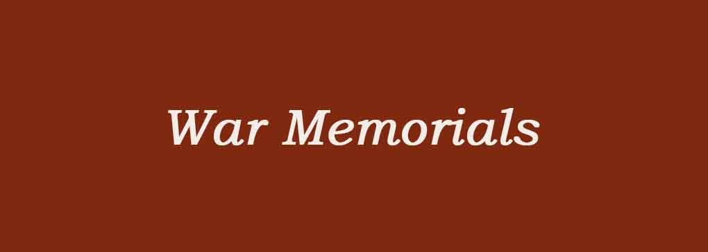 War Monuments & Memorials