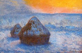 Claude-Monet-Grainstacks-At-Sunset-Snow-Effect-1890-1891