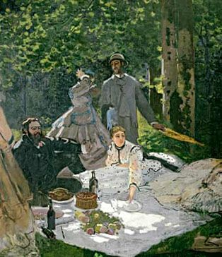 Luncheon on the Grass by Monet