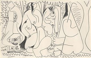 Luncheon on the Grass by Picasso