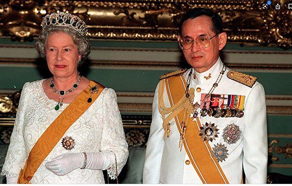 King Bhumibol with Queen Elizabeth