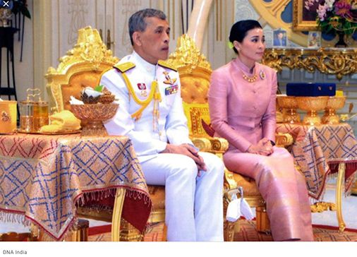 King Rama X and his Queen