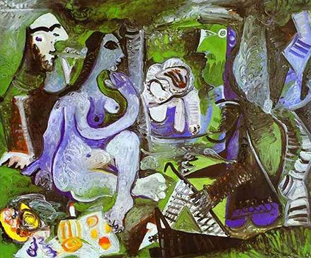 Luncheon on the Grass by Picasso 1