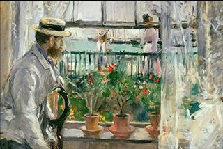 Eugene Manet and Daughter