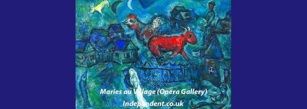 More on Marc Chagall: tantalisingly just on the other side of the comprehensible
