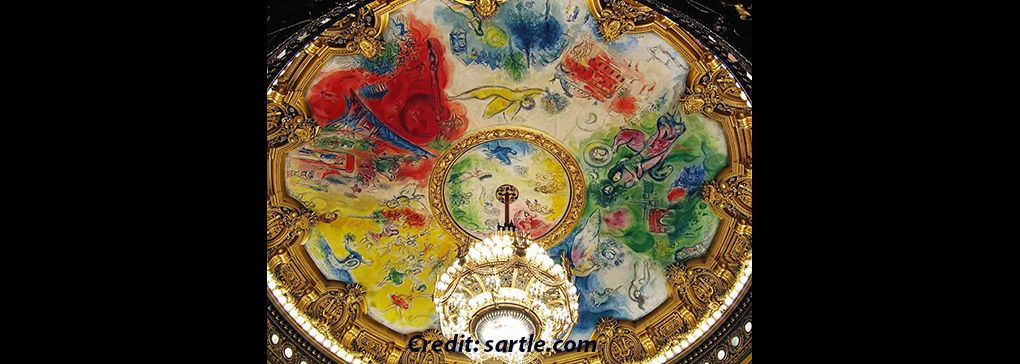 Marc Chagall and the Floating Canvas in the Palais Garnier, Paris