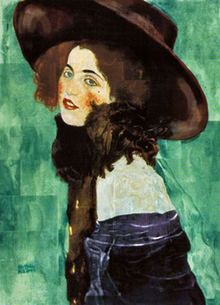 Portrait of a lady with hat and scarf
