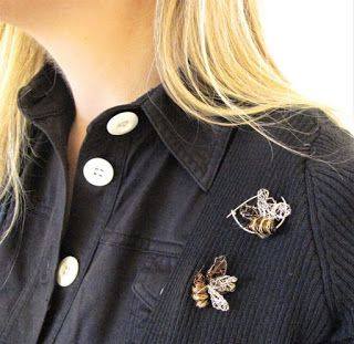 Modern Bee brooch