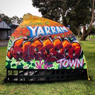 "Street Art: turning Yarram into a ""Heesco"" town"